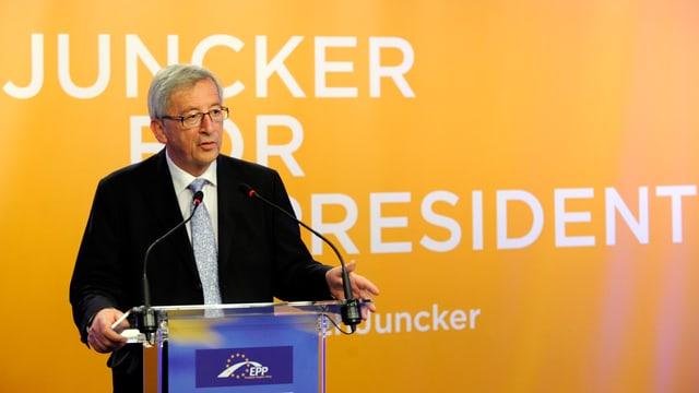 Der Spitzenkandidaten der konservativen Europäischen Volkspartei Jean-Claude Juncker.