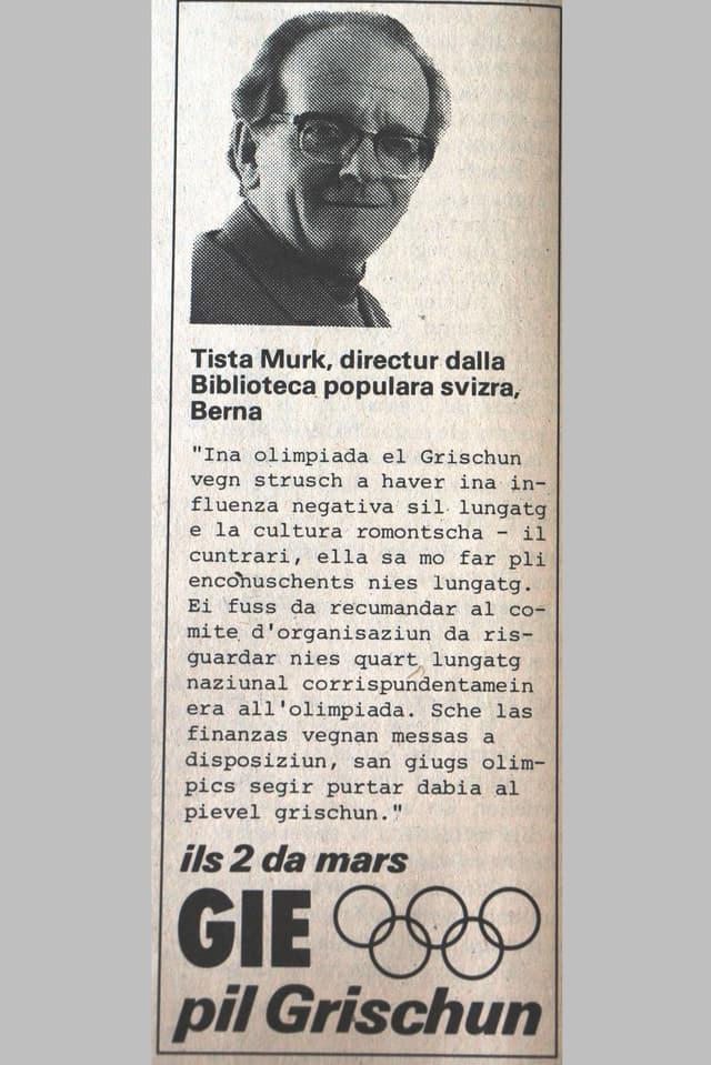 Inserat en Gasetta Romontscha dals 26-02-1980.
