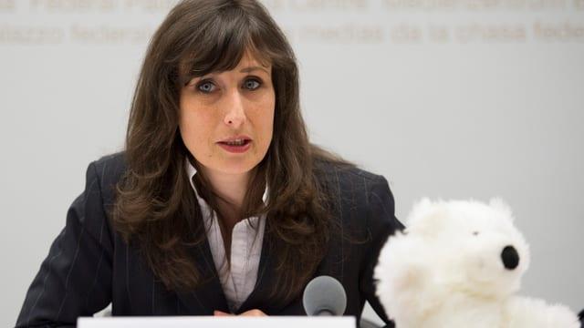 Aufnahme der Urheberin der Pädophilen-Initiative Christine Bussat.