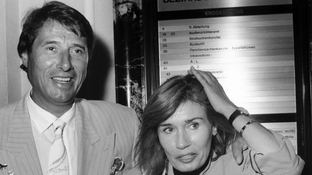 Udo Jürgens mit seiner Frau Panja.