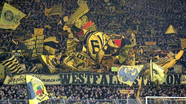 Dortmunder Fansektor.