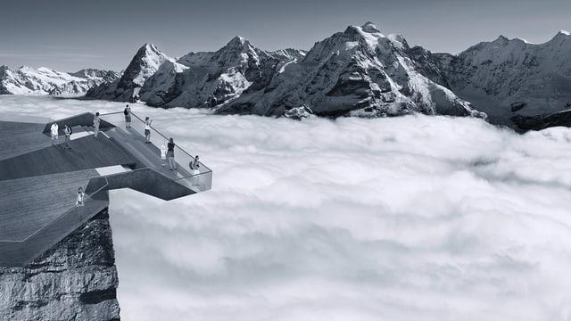 Illustration des geplanten «Skyline Walk».