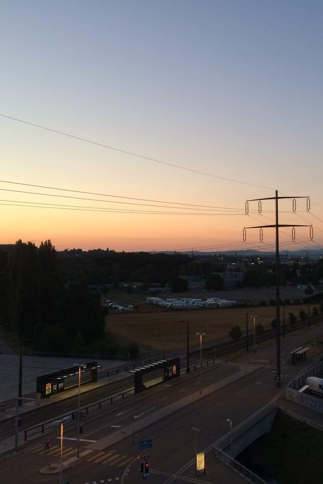 In der klaren Luft konnte man am Morgen vom Studio Leutschenbach bis zum Alpstein sehen.