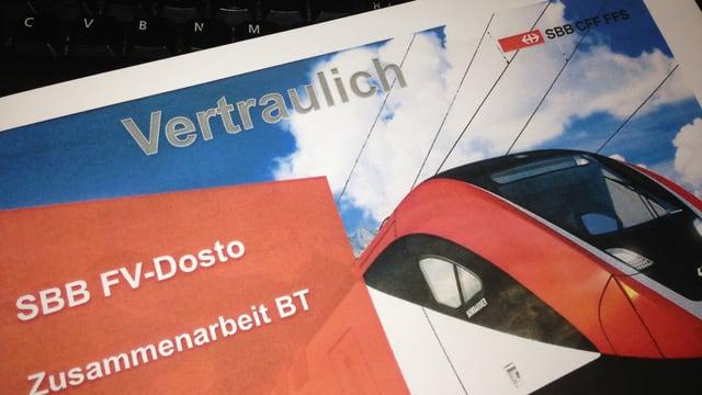 Vertrauliches Dokument der SBB zur Rollmaterialbeschaffung von Bombardier.