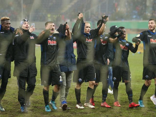 Die Spieler des SC Paderborn.