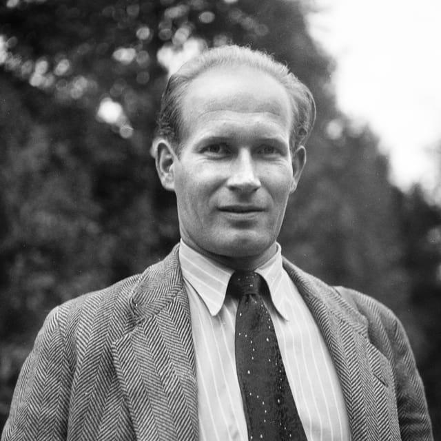 Ein Mann mit Krawatte und Anzug.
