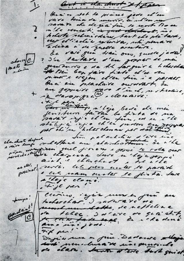 Manuscrit da Cla Biert
