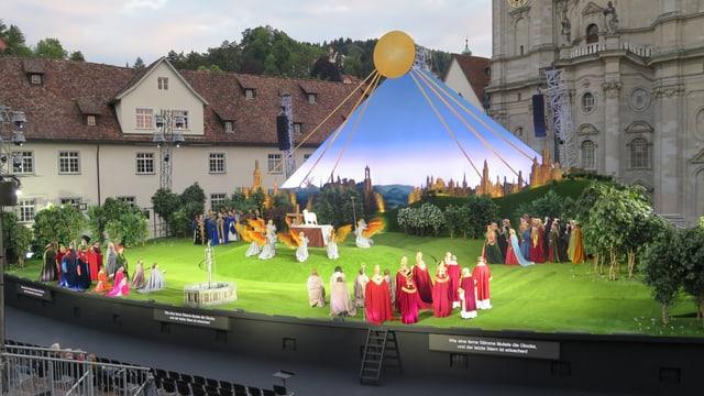 Edgar - die Oper von Puccini - feiert auf dem Klosterplatz in St. Gallen Premiere.