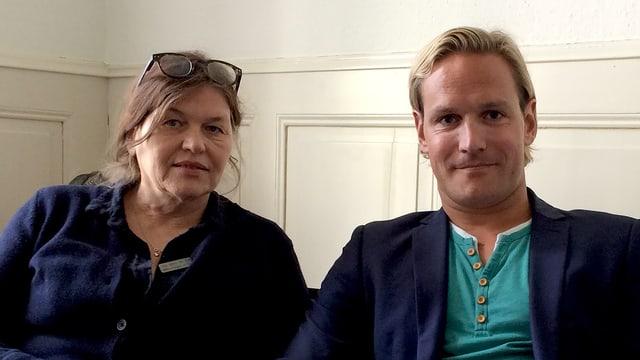 Heidi Schär Sall und Janis Brakowski.