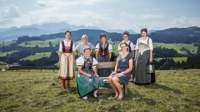 Die Teilnehmerinnen der 14. Staffel der Landfrauenküche