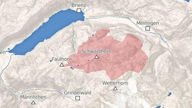 Kartenausschnitt Schwarzhorn