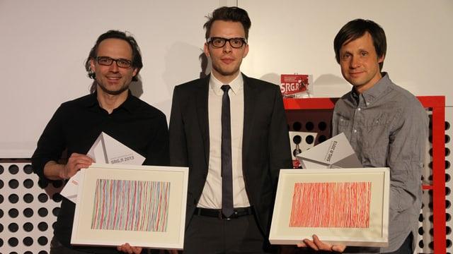 Premi schurnalistic SRG.R per Livio Foffa e David Spinnler.