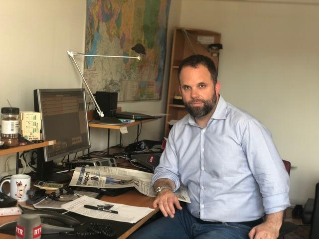 David Nauer, il correspondent da radio SRF en ses biro a Moscau.