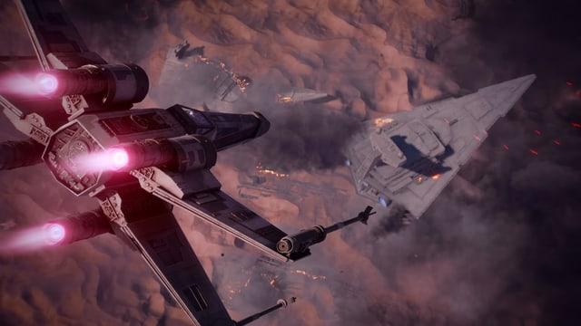 Perfekte Kulisse. Die X Wings und jedes Star Wars Detail ist originalgetreu!