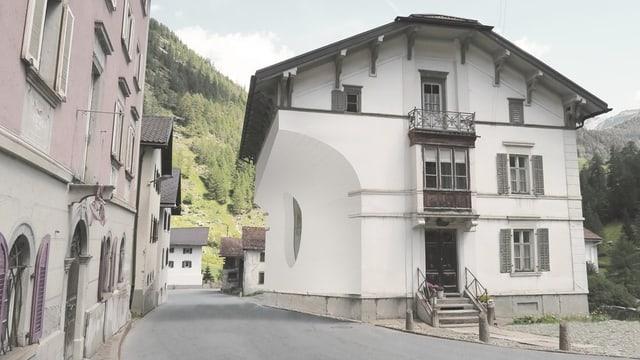 Visualisierung der Hausfassade in Mulegns