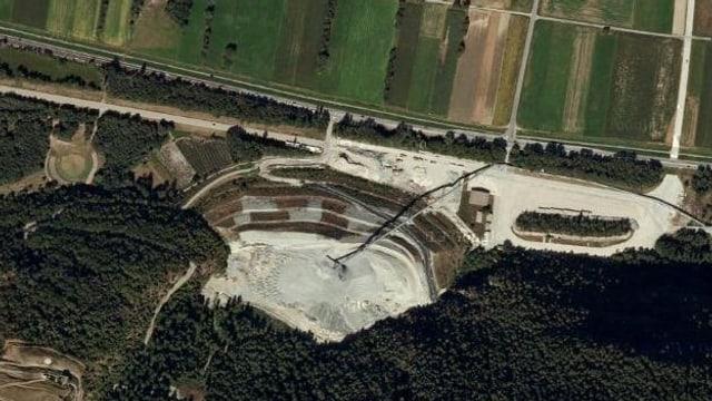Luftaufnahme der Deponie.