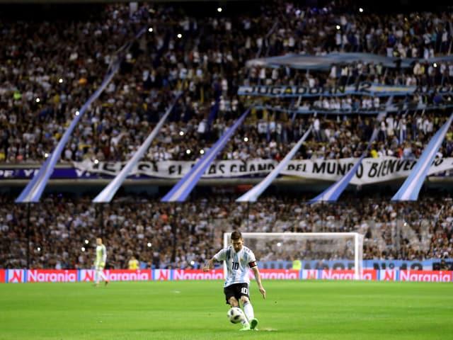 Das Bombonera-Stadion in Buenos Aires.