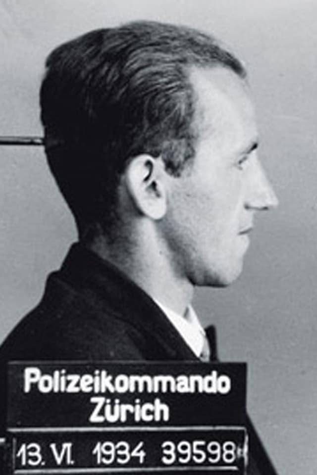 Hans Vollenweider, Polizeibild von 1934.