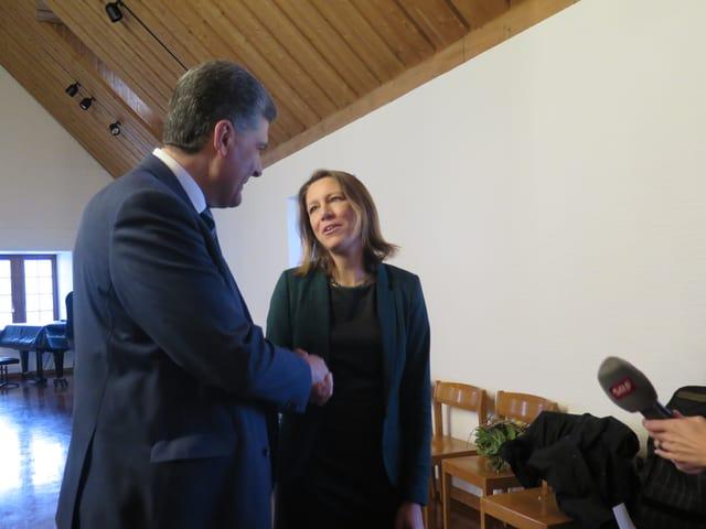 Boris Tschirky  und Sonja Lüthi