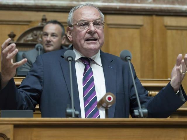 Jean-Pierre Graber im Nationalrat