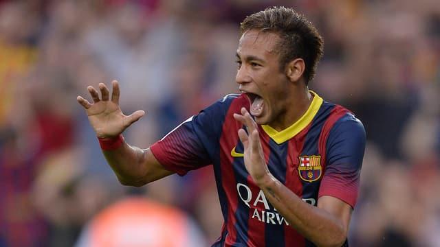 Grosse Freude bei Barcelonas Siegtorschütze Neymar