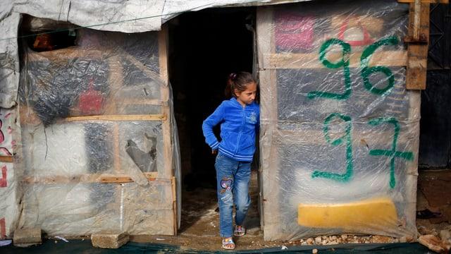 Mädchen in einem syrischen Flüchtlingslager