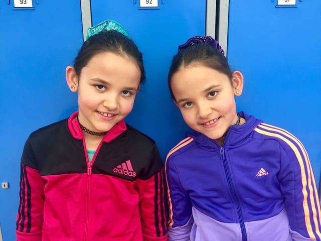 Kinderfoto von Olivia und Kim