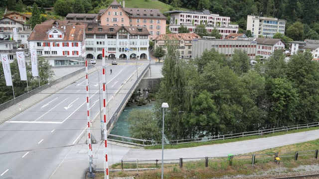 La punt actuala da betun, construida l'onn 1962.