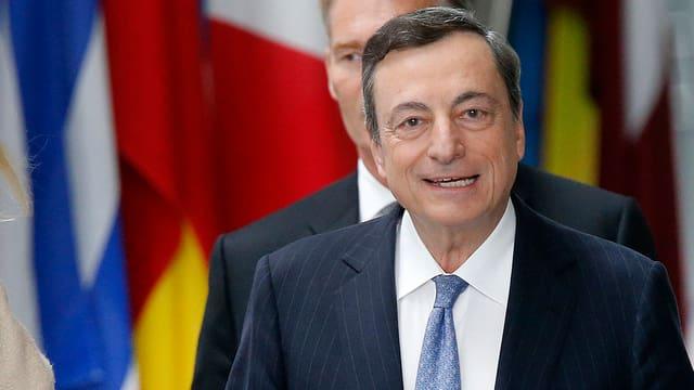 Gibt sich verhalten zuversichtlich: EZB-Chef Mario Draghi.