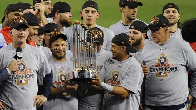 Die Houston Astros feiern.
