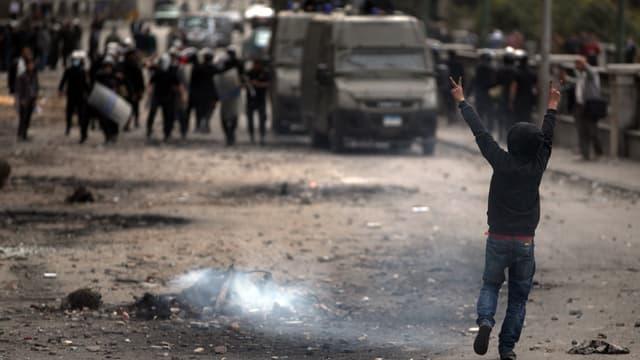 Demonstranten liefern sich in Ägypten Strassenschlachten mit der Polizei.