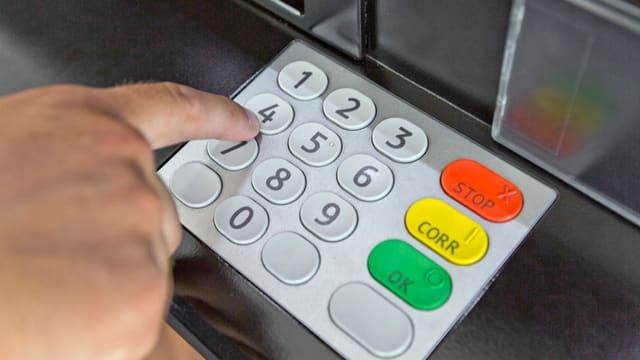 Tastatur eines Bankomaten