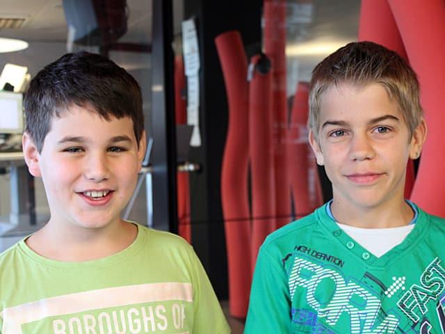 Nico Pfau und Tobias Weber.