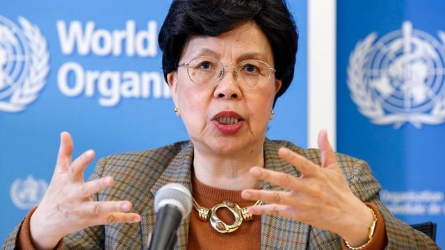 Margaret Chan in Grossaufnahme