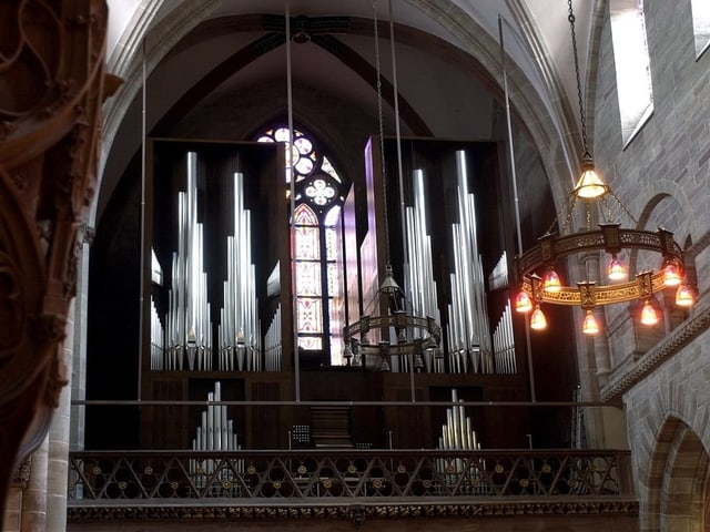 Orgel im Basler Münster.