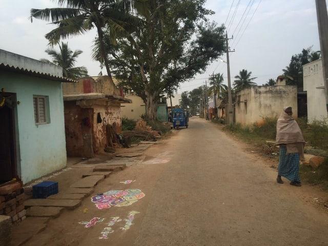 Sicht auf eine Strasse in Kagganahalli