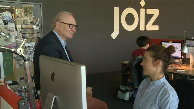 Kurt Schaad im Gespräch mit «Joiz»-Moderatorin Gülsha.