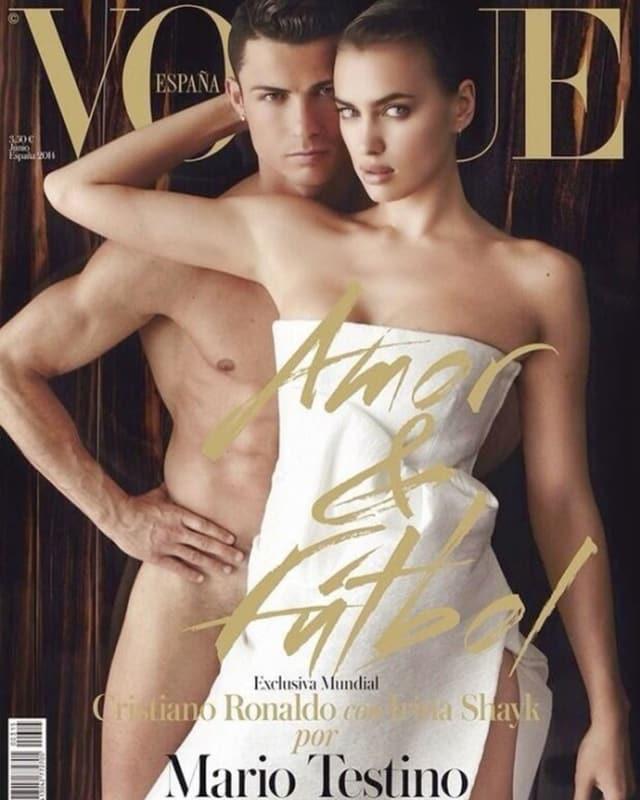 Cristiano Ronaldo und Irina Shayk zusammen auf dem «Vogue»-Cover.