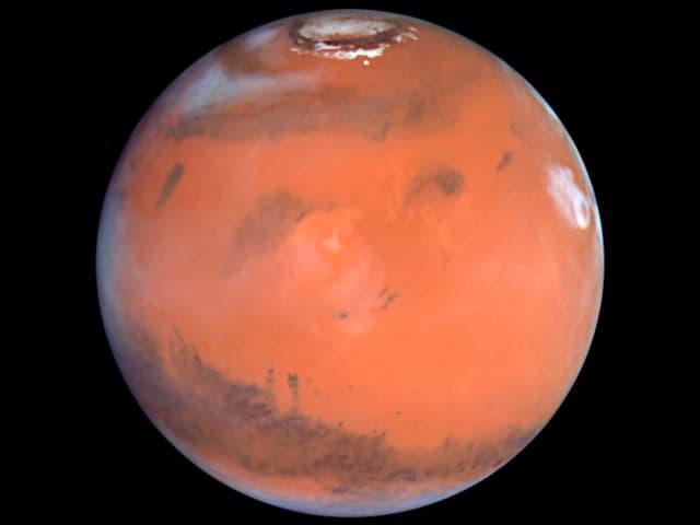 Der Mars auf einem Foto des Hubble-Teleskops