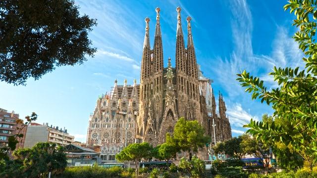 Blick auf die Sagrada Família.