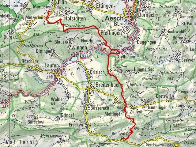 Etappe 2: Mariastein – Beinwil