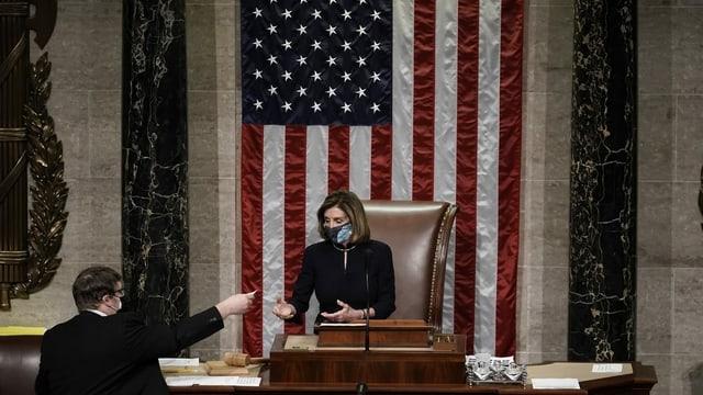 Nancy Pelosi, pledadra da la chombra dals represchentants.