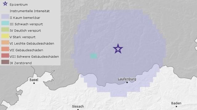 Grafik des Erdbebens