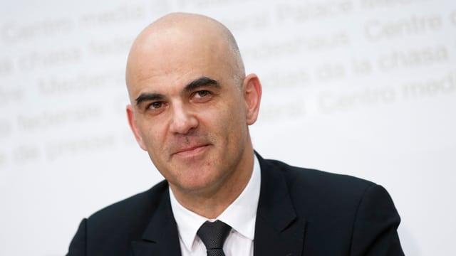 Portrait von Budnesrat Alain Berset.