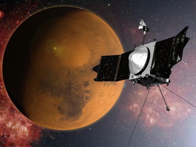 Maven kreist um den Mars