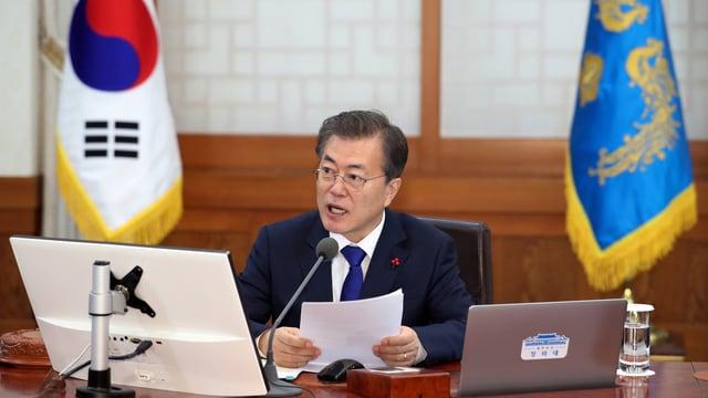 Moon Jae-in bei einer Ansprache