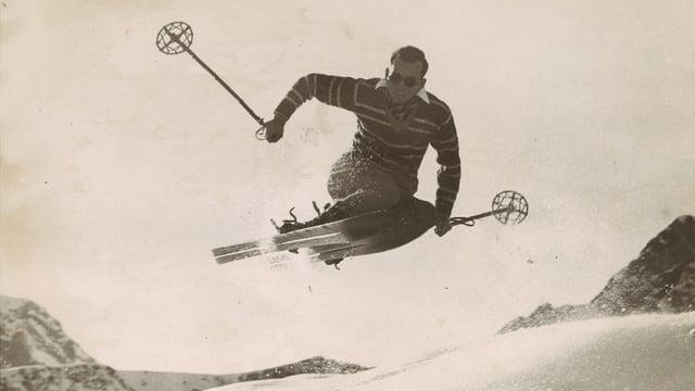 Walter Amstutz auf den Skiern