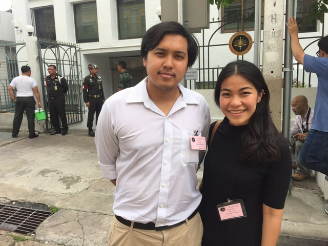 Aktivist und Student Rackchart Wong-Arthichart, einer der 13, die verhaftet wurden.