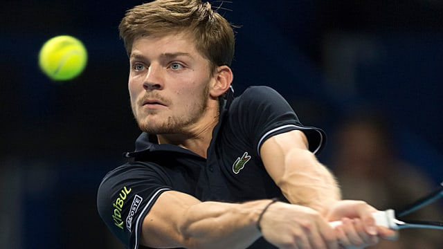 Der Tennisspieler David Goffin in Aktion