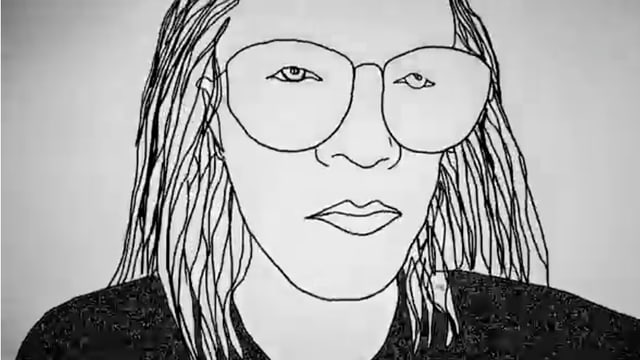 Porträt, gezeichnet, aus einem Clip von Hello Psychaleppo